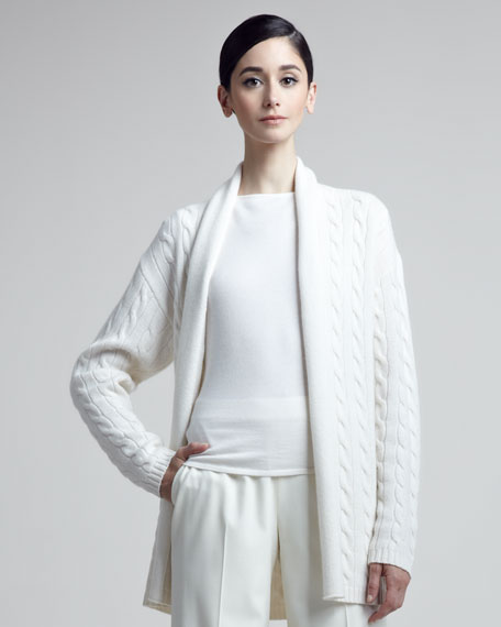 Cable-Knit Cashmere Cardigan