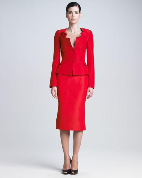Silk Faille Tea-Length Skirt