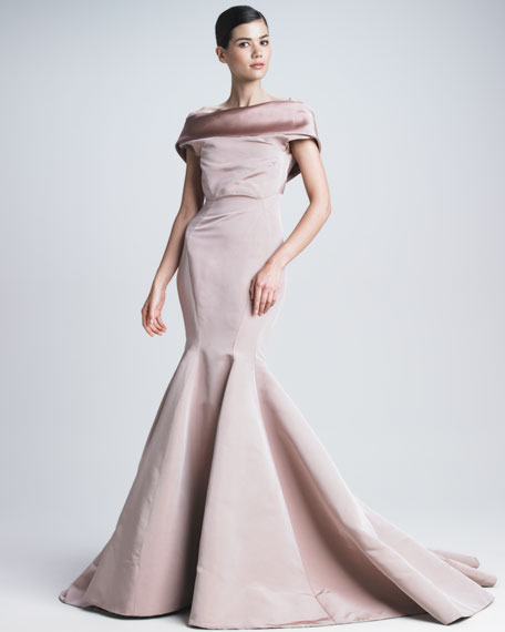 Silk Faille Mermaid Gown