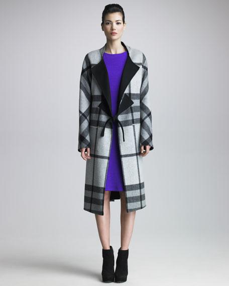 Reversible Plaid Coat