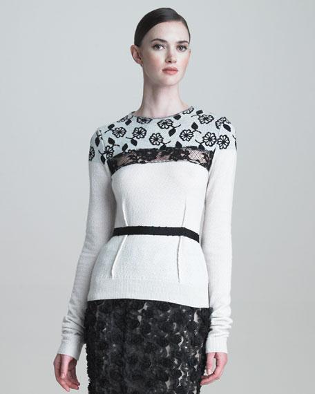 Daisy-Yoke Sweater