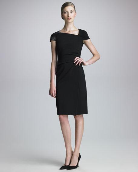 Asymmetric Techno Jersey Dress