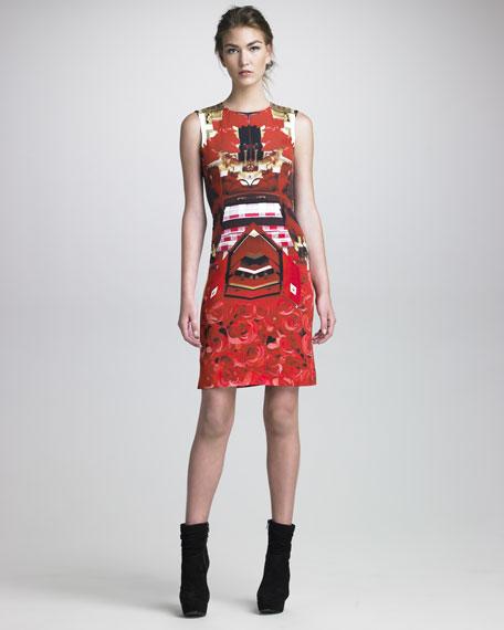 Formfitting Printed Dress