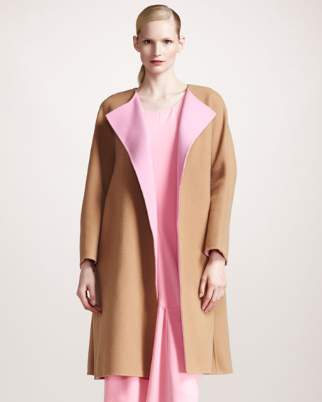 Colorblock Double-Face Coat