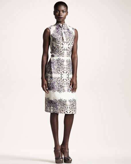 Brise Noire Fawn-Print Dress
