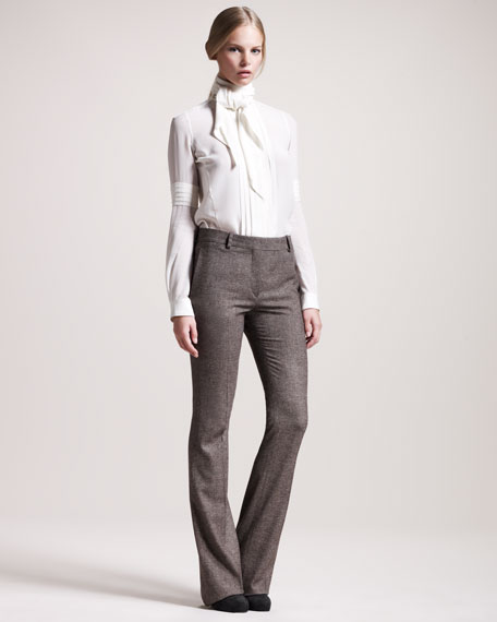 Derby Stretch-Tweed Trousers