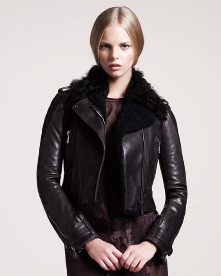 Seaton Leather Moto Blouson Jacket