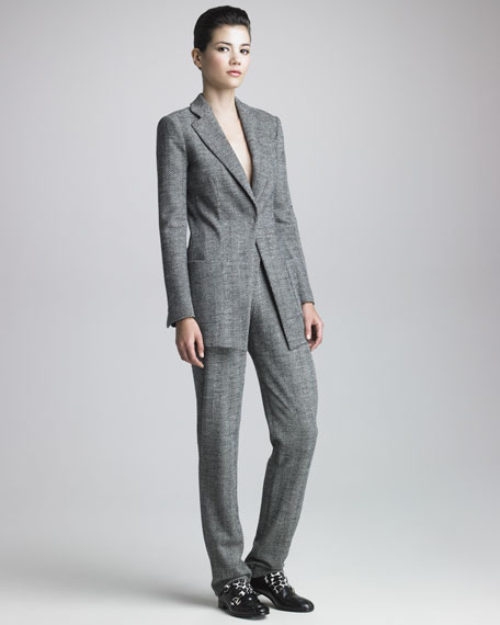 Herringbone-Tweed Suit