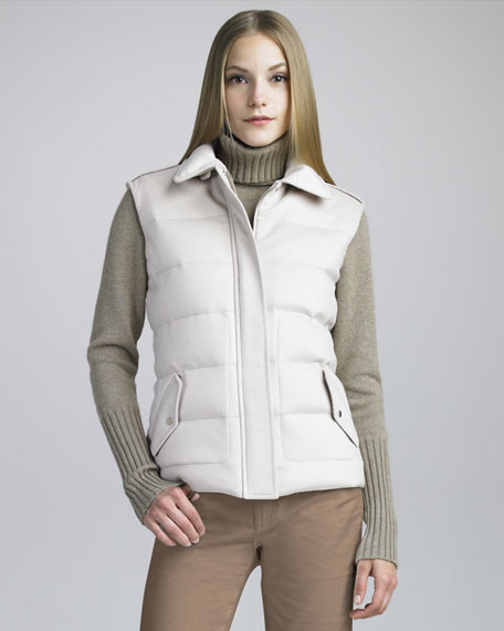 Cashmere Storm System Puffer Vest
