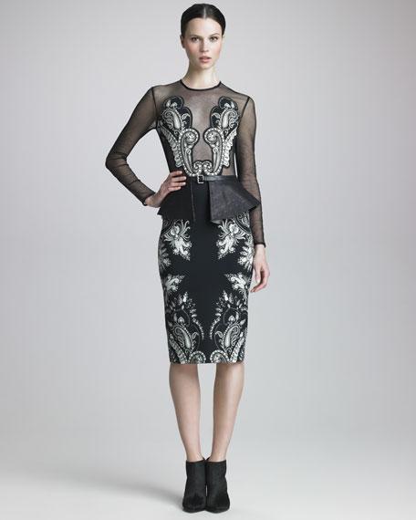 Paisley-Applique Dress