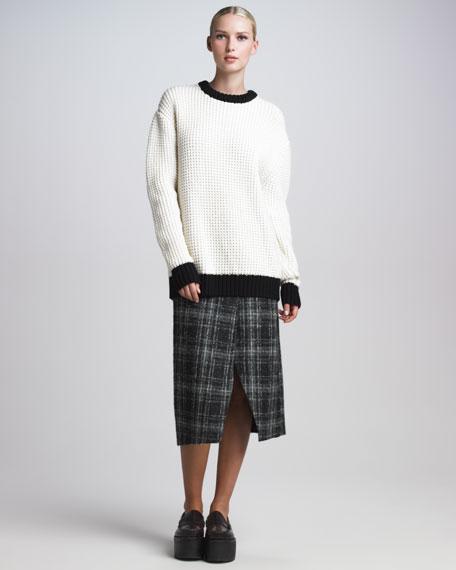 Plaid Envelope Skirt