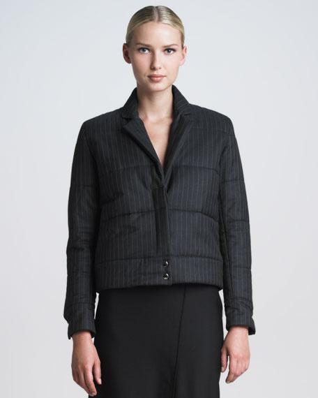 Pinstripe Puffer Jacket