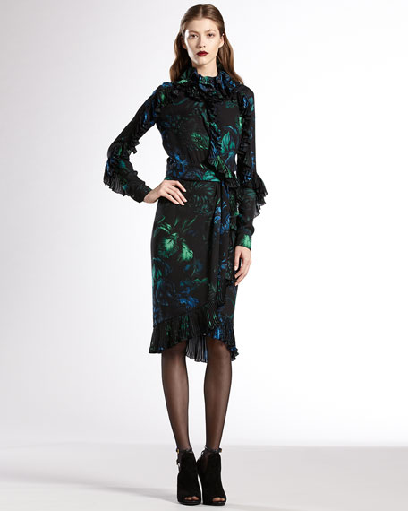 Potpourri-Print Silk Georgette Dress