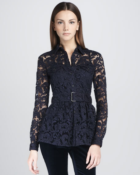 Belted Lace Tunic