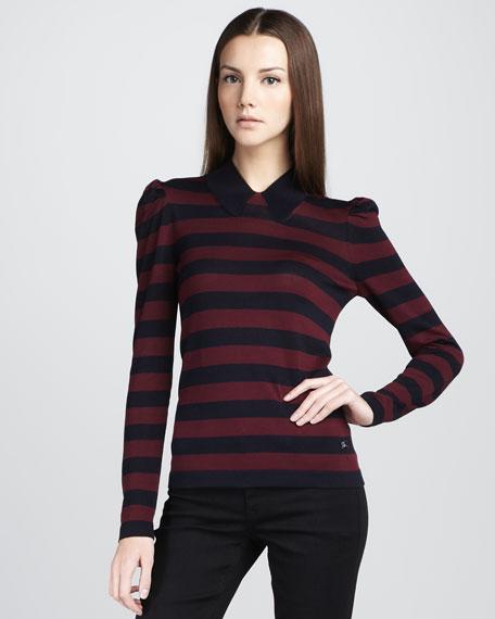 Striped Silk-Cotton Sweater