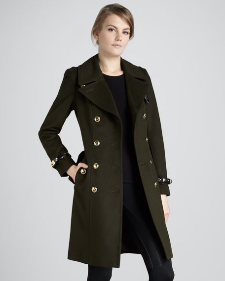 Wool/Cashmere Military Jacket