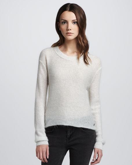 Metallic Gauzy Sweater