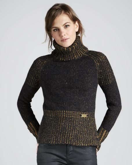 Heritage Tweed Turtleneck Sweater
