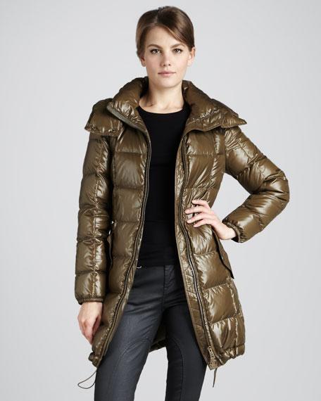 Glossy Tech Puffer Coat