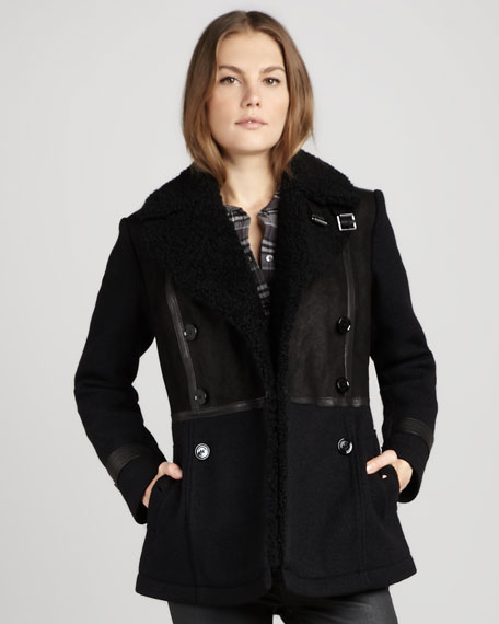 Shearling Double-Breasted Jacket
