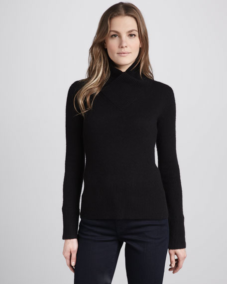 Cashmere Shawl-Collar Sweater