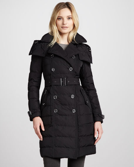 Belted Puffer Trenchcoat