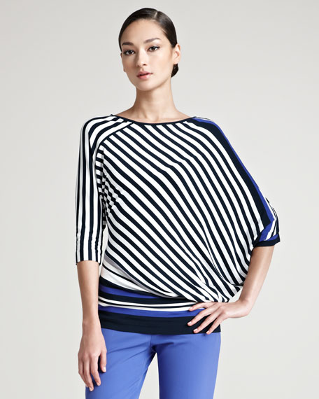 Edelmaran Dolman Sleeve Striped Top
