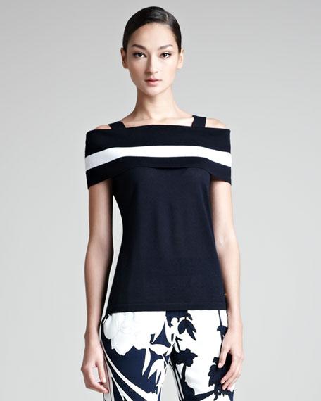 Off-the-Shoulder Single-Stripe Top
