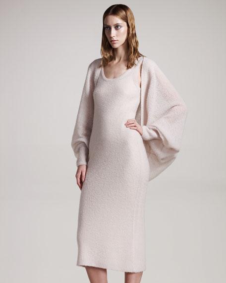 Lightweight Cashmere-Silk Wrap Sweater
