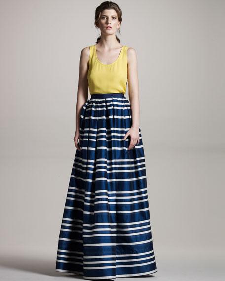 Long Striped Skirt