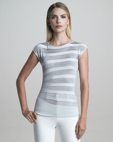 Asymmetric Striped Tee