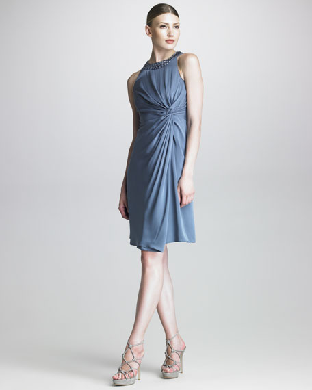 Twisted Crepe Dress