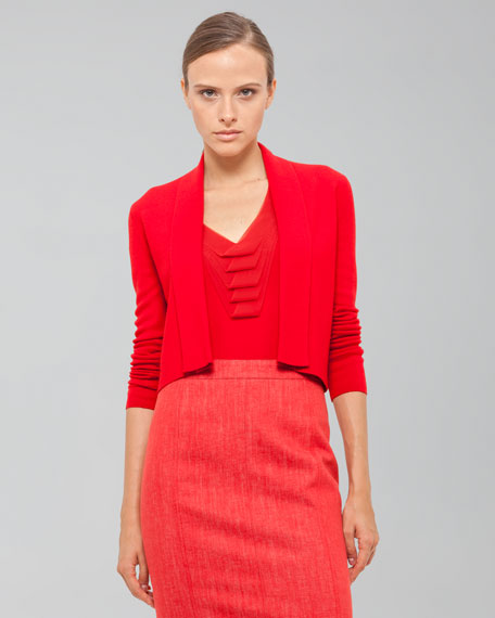 Long-Sleeve Cropped Cardigan