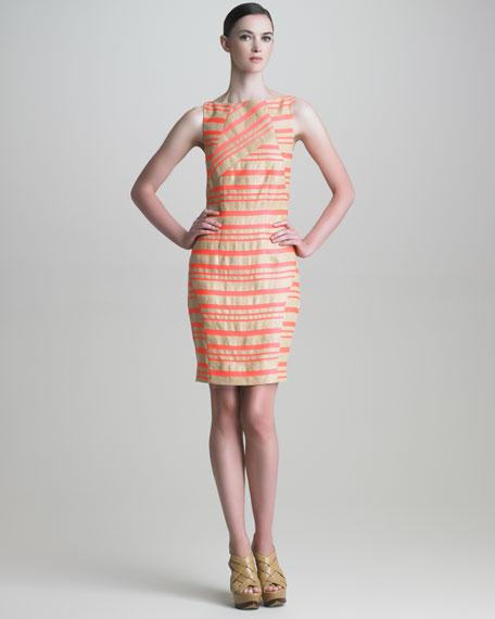 Striped Paneled Dress