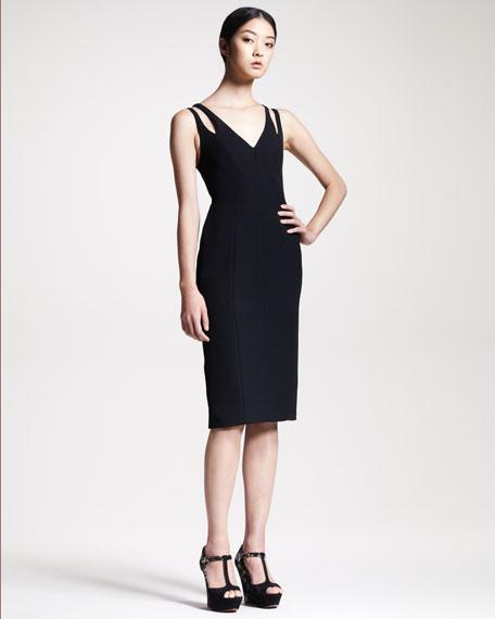 Contour Wrap-Back Dress