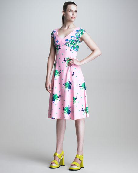 Dot Floral Print Dress