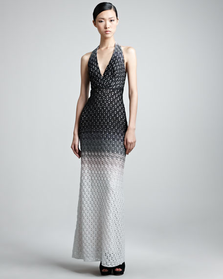 Crocheted Halter Gown