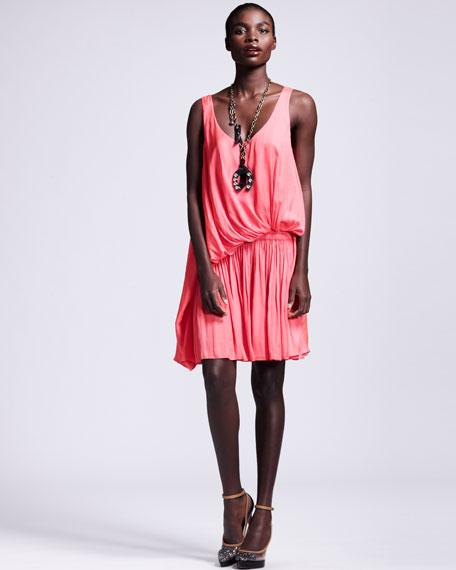 Lanvin Draped Drop-Waist Dress