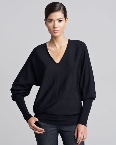 Long Dolman-Sleeve Pullover
