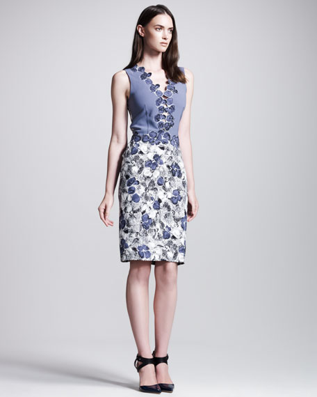 Primrose-Print Sleeveless Dress