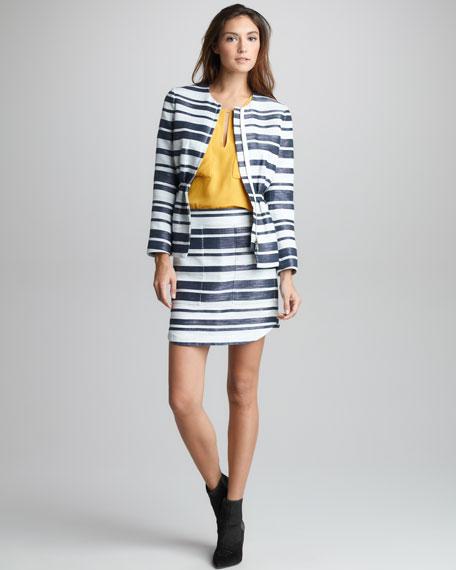Space-Dye Striped Skirt