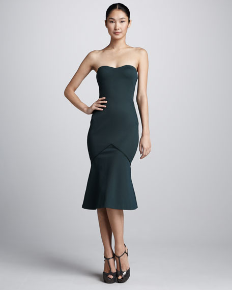 Bonded Jersey Strapless Dress