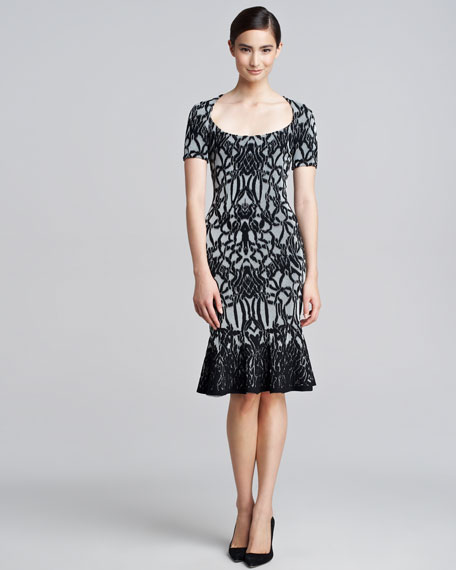 Jacquard Fluted Dress