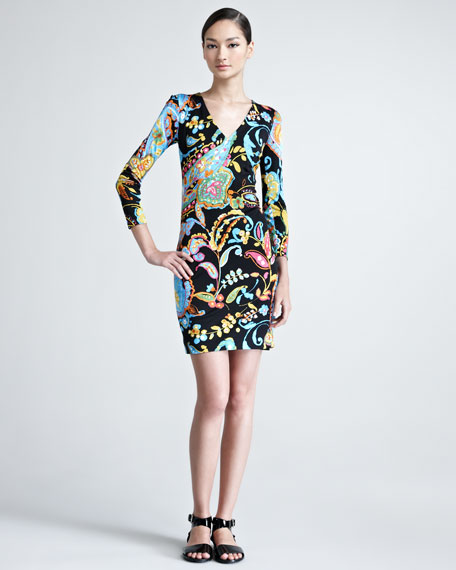 Kelby Printed Jersey Dress