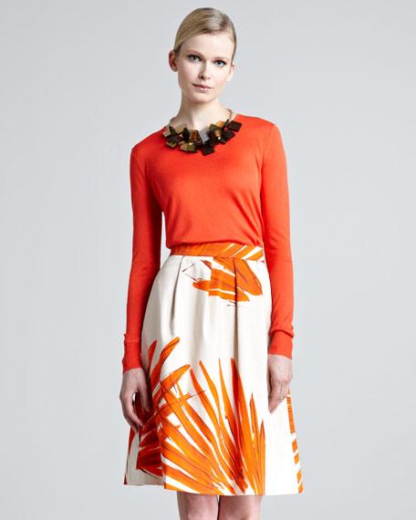 Brush-Print Skirt