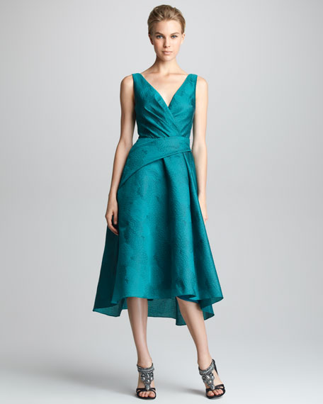 Wrapped Jacquard Dress