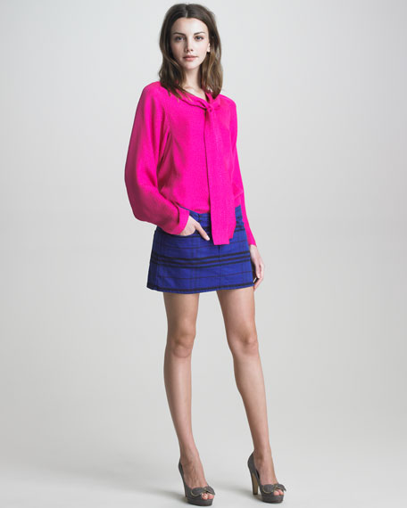Five-Pocket Denim Miniskirt