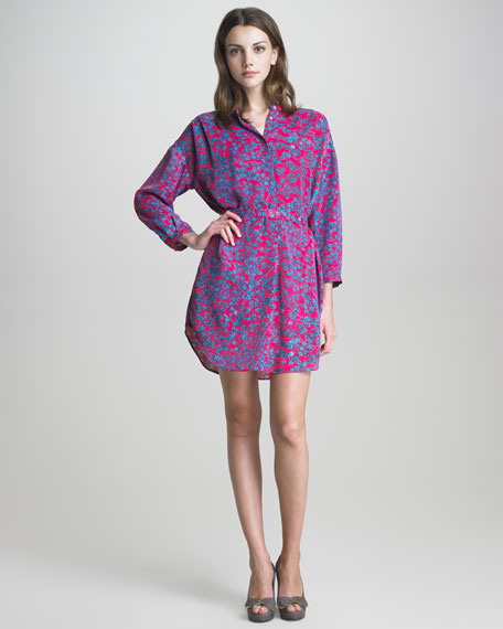 Floral-Print Shirtdress