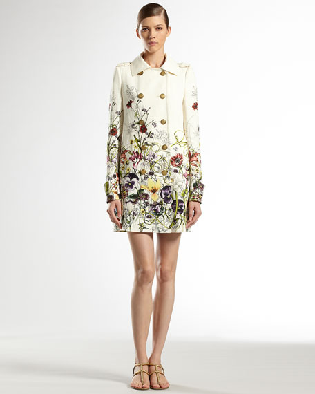 Flora Infinity Double-Breasted Trench Coat