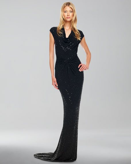 Beaded Twisted Gown